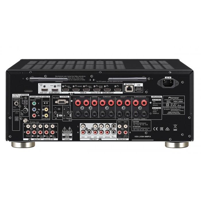 Pioneer VSX-LX504-B 9.2-Канален Aудио/Видео ресийвър за домашно кино с Dolby Atmos, 4K Ultra HD